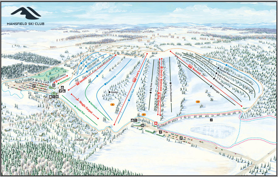 Mansfield Ski Club - Trail Map 2019